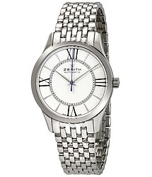 Zenith Captain Ultra Thin White Dial Ladies Watch 03231067938M2310