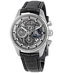 Zenith Chronomaster El Primero Full Open Skeleton Dial Automatic Men's Leather Watch