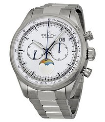 Zenith Chronomaster Helios Silver Dial Chronograph Stainless Steel Men's Watch 032160404702M2160