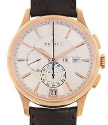 Zenith Commander 18kt Rose Gold Silver Automatic 18.2070.4054/02.C711