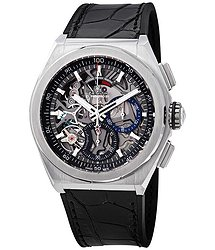 Zenith Defy El Primero 21 Chronograph Automatic Black Skeletal Dial Titanium Men's Watch