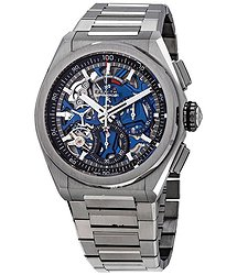 Zenith Defy El Primero 21 Chronograph Automatic Blue Skeletal Dial Men's Watch