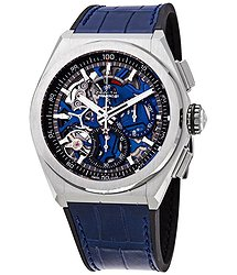 Zenith Defy El Primero 21 Chronograph Automatic Blue Skeletal Dial Titanium Men's Watch