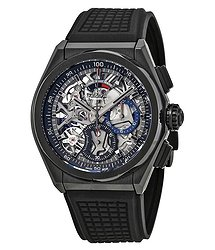 Zenith Defy El Primero 21 Skeleton Dial Automatic Men's Rubber Watch