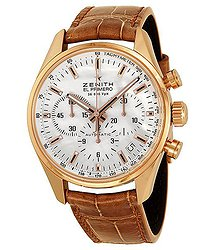 Zenith El Primero 36 000 VpH Mother of Pearl Dial 18kt Rose Gold Brown Leather Ladies Watch 18215040082C709