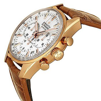 Купить часы Zenith El Primero 36 000 VpH Mother of Pearl Dial 18kt Rose Gold Brown Leather Ladies Watch 18215040082C709  в ломбарде швейцарских часов