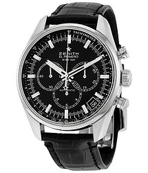 Zenith El Primero 36'000 VpH Black Dial Chronograph Automatic Men's Watch 03208040021C496