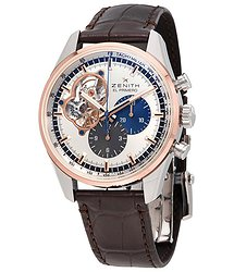 Zenith El Primero Auto Chronograph 18kt Rose gold & stainless steel case Men's Watch