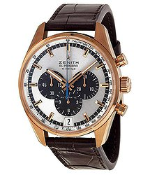 Zenith El Primero Automatic Chronograph 18 kt Rose Gold Men's Watch