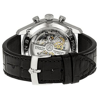 Купить часы Zenith El Primero Black Dial Stainless Steel Black Alligator Leather Men's Watch  в ломбарде швейцарских часов