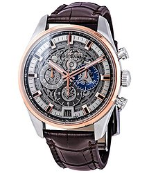 Zenith El Primero Chronograph Automatic Blue Skeleton Dial Men's Watch