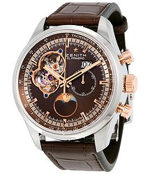 Zenith El Primero Chronomaster Automatic Brown Dial Brown Leather Men's Watch