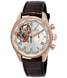 Zenith El Primero Chronomaster Silver Cut-Out Dial Diamond Ladies Watch 222151406201C713