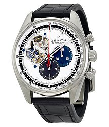 Zenith El Primero Chronomaster Silver Dial Black Leather Men's Watch
