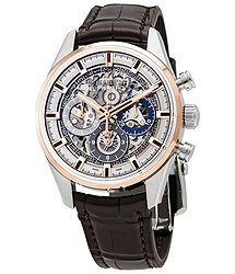 Zenith El Primero Chronomaster Stainless Steel & Rose Gold Automatic Skeletal Dial Men's Watch
