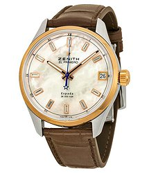 Zenith El Primero Espada Automatic Mother of Pearl Brown Leather Men's Watch 512170465081C713