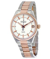 Zenith El Primero Espada White Dial Stainless Steel and 18kt Rose Gold Men's Watch
