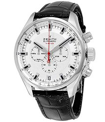 Zenith El Primero Sport Chronograph Automatic Silver Dial Brown Leather Men's Watch 03228040001C713