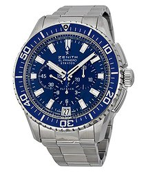 Zenith El Primero Stratos Flyback Automatic Blue Dial Men's Watch 03206740551M2060