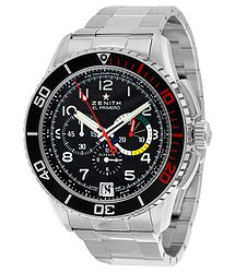 Zenith El Primero Stratos Flyback Black Dial Chronograph Automatic Men's Watch 03206140521M2060