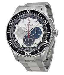 Zenith El Primero Stratos Flyback Chronograph Automatic Silver Dial Stainless Steel Men's Watch 03206640569M2060