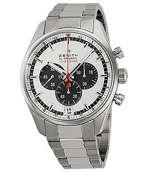 Zenith El Primero Striking 10th Silver Dial Chronograph Stainless Steel Men's Watch