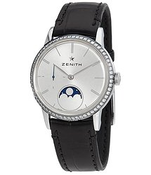 Zenith Elite Automatic Diamond Moonphase Ladies Watch