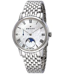 Zenith Elite Automatic Mother of Pearl Dial Ladies Watch