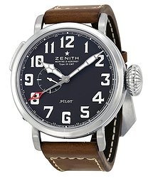 Zenith Elite Pilot Automatic Black Dial Men's Watch
