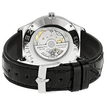 Купить часы Zenith Elite Silver Dial Stainless Steel Black Leather Automatic Men's Watch  в ломбарде швейцарских часов