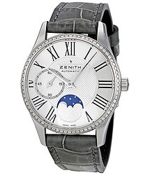 Zenith Elite Ultra Thin Moonphase Diamond Automatic Ladies Watch 16231069202C706