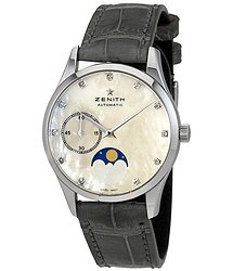 Zenith Heritage Elite Ultra Thin Lady Moonphase Diamond Automatic Watch