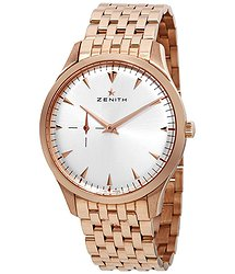 Zenith Heritage Ultra Thin Small Seconds Silver Dial Rose Gold Men's Watch