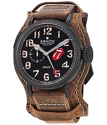 Zenith Pilot Automatic Rolling Stones Limited Editoin Black Dial Men's Watch