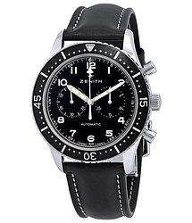 Zenith Pilot Chronograph Automatic Black Dial Men's Watch