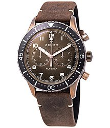 Zenith Pilot Cronometro Tipo CP-2 Flyback Chronograph Automatic Bronze Grained Dial Men's Watch