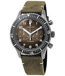Zenith Pilot Cronometro Tipo CP-2 Flyback Chronograph Automatic Grey Grained Dial Men's Watch