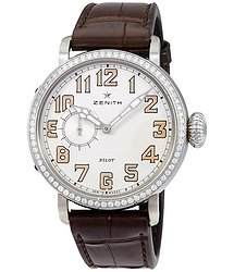Zenith Pilot Montre d'Aeronef White Dial Automatic Ladies Watch 16193068131C725