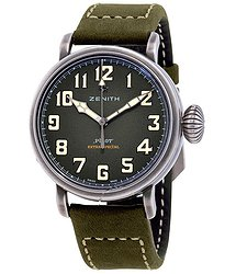 Zenith Pilot Type 20 Automatic Kaki Green Grained Men's Watch