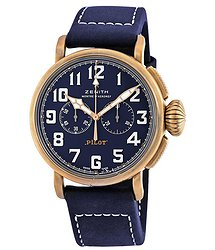 Zenith Pilot Type 20 Bronze Chronograph Automatic Blue Dial Men's Watch