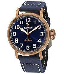 Zenith Pilot Type 20 Extra Special Bronze Automatic Matte Blue Dial Men's Watch