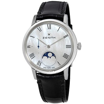 Купить часы Zenith Ultra Thin Lady Moonphase Automatic White Mother of Pearl Dial Ladies Watch  в ломбарде швейцарских часов